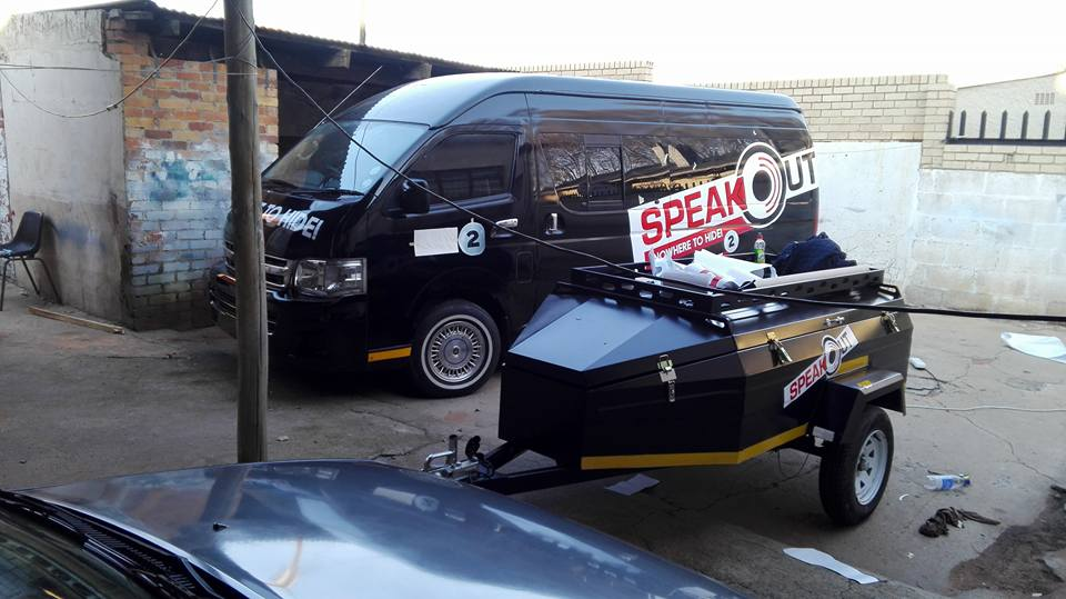 Speak Out SABC 2 Vehicle Branding